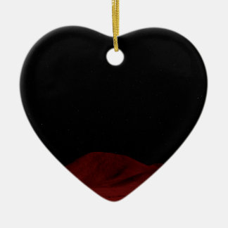 Red Outer Space Christmas Ornament