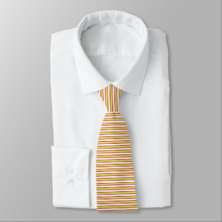 Red Outlined Static Lime Green Stripes Tie