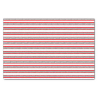 Red Outlined Static Silver Stripes Tissue Paper