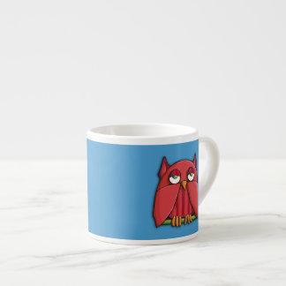 Red Owl aqua Espresso Mug