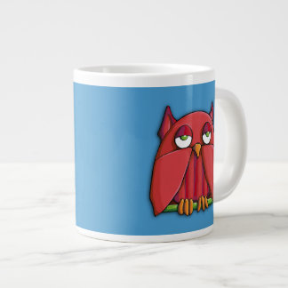 Red Owl aqua Jumbo Mug