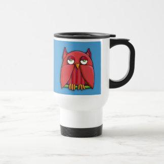 Red Owl aqua Travel Mug