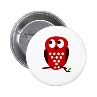 Red Owl Button