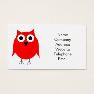 Red Owl Business Card