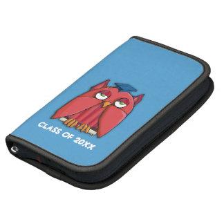 Red Owl Grad aqua Folio Planner Organizer