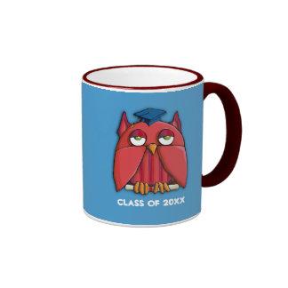 Red Owl Grad aqua Mug