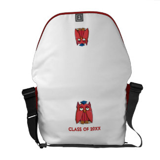 Red Owl Grad Messenger Bag