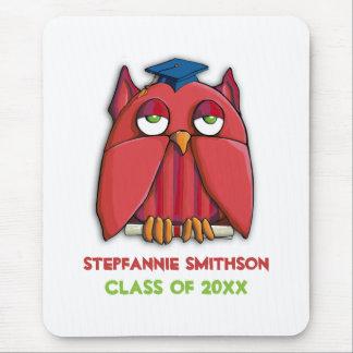 Red Owl Grad Mousepad