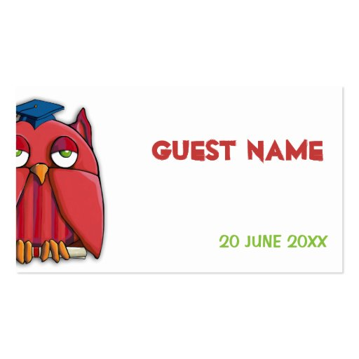 Red Owl Grad Place Card Business Card