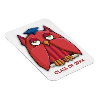Red Owl Grad Premium Magnet
