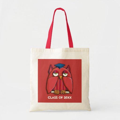 Red Owl Grad red Bag