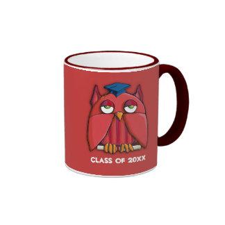 Red Owl Grad red Mug