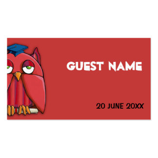 Red Owl Grad red Place Card Pack Of Standard Business Cards