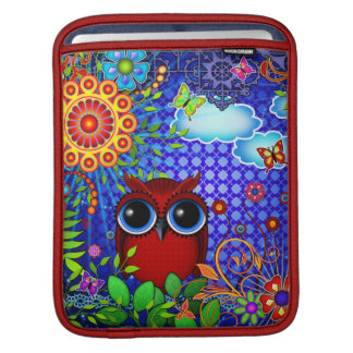 Red Owl iPad Sleeve