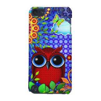 Red Owl on Blue iPod Touch 5G Case