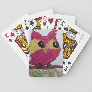 Red Owl Playing Cards