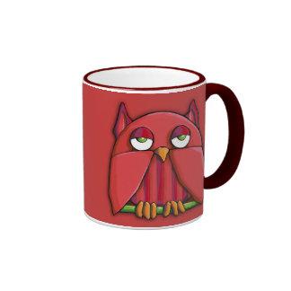 Red Owl red Mug