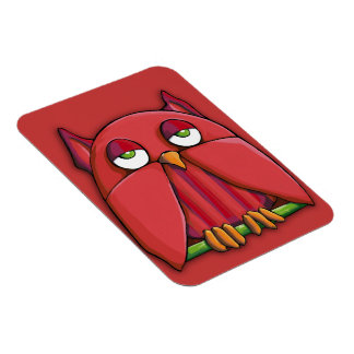 Red Owl red Premium Magnet