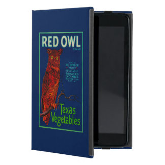 Red Owl Vegetable Label iPad Mini Cover