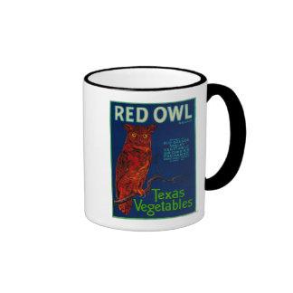 Red Owl Vegetable Label Coffee Mugs