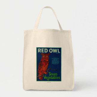 Red Owl Vegetable Label Tote Bag