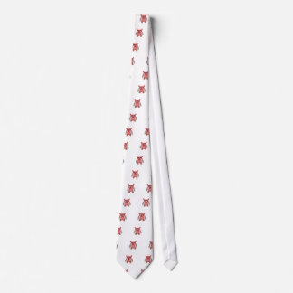 Red owl with red polka dots tie