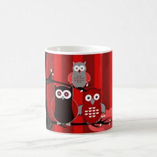 Red Owls Mugs
