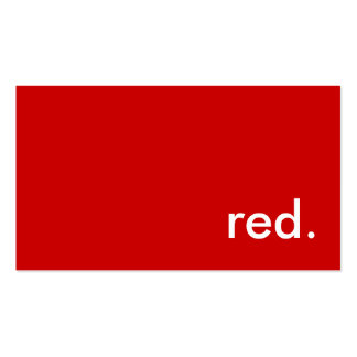 red. pack of standard business cards