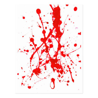 Red Paint Splat Product Post Cards