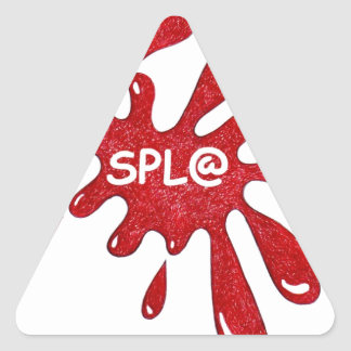 RED PAINT SPLAT TRIANGLE STICKER