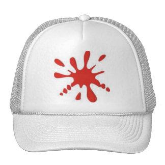 Red Paint Splatter Mesh Hats