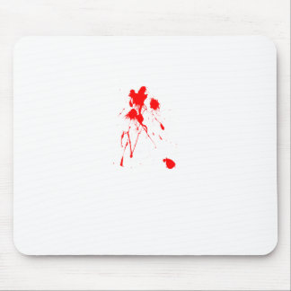Red paint splatter mouse pads