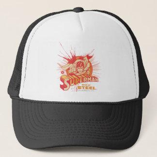 Red paint splatter trucker hat