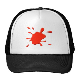 Red Paint Splodge Hats