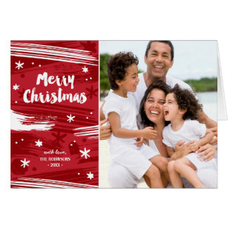 Red Painted Christmas Card