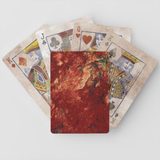Red Painted Rock Bicycle Playing Cards