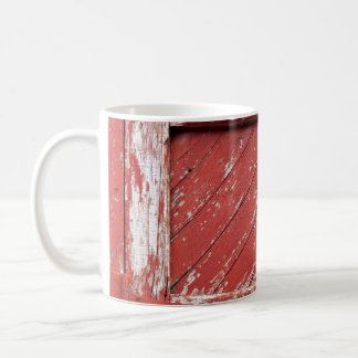 Red Painted Wooden Barn Door Basic White Mug