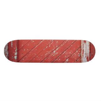 Red Painted Wooden Barn Door Skate Board