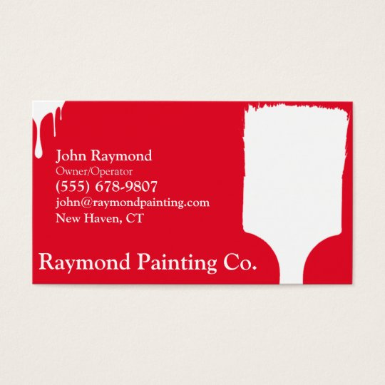 Red Painter Business Cards