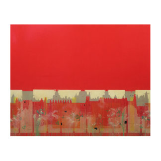 Red Painting Wood Wall Art