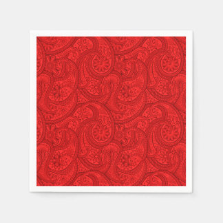Red Paisley Disposable Napkin