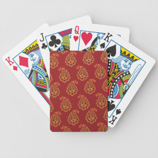 Red Paisley Playing Cards