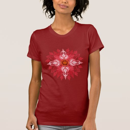 Red paisley sun mandala shirts