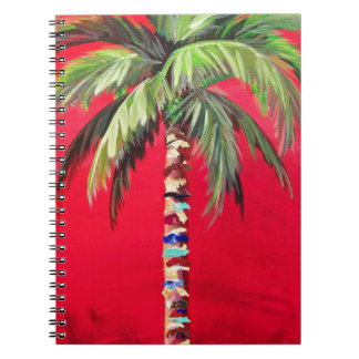 Red Palm Tree Notebook