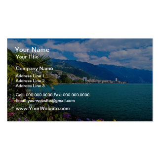 Red Palms flourish in the temperate climate of Lak Double-Sided Standard Business Cards (Pack Of 100)