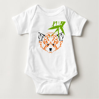 Red panda 1 baby bodysuit