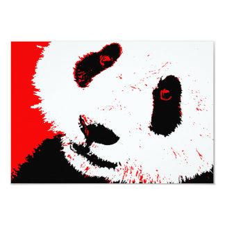 red panda 9 cm x 13 cm invitation card