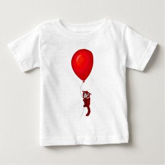 Red Panda Balloon Flight Baby T-Shirt