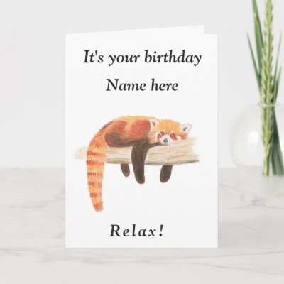 Relax Its Your Birthday Bear For Son In Law Card