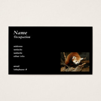 Red Panda Business Card